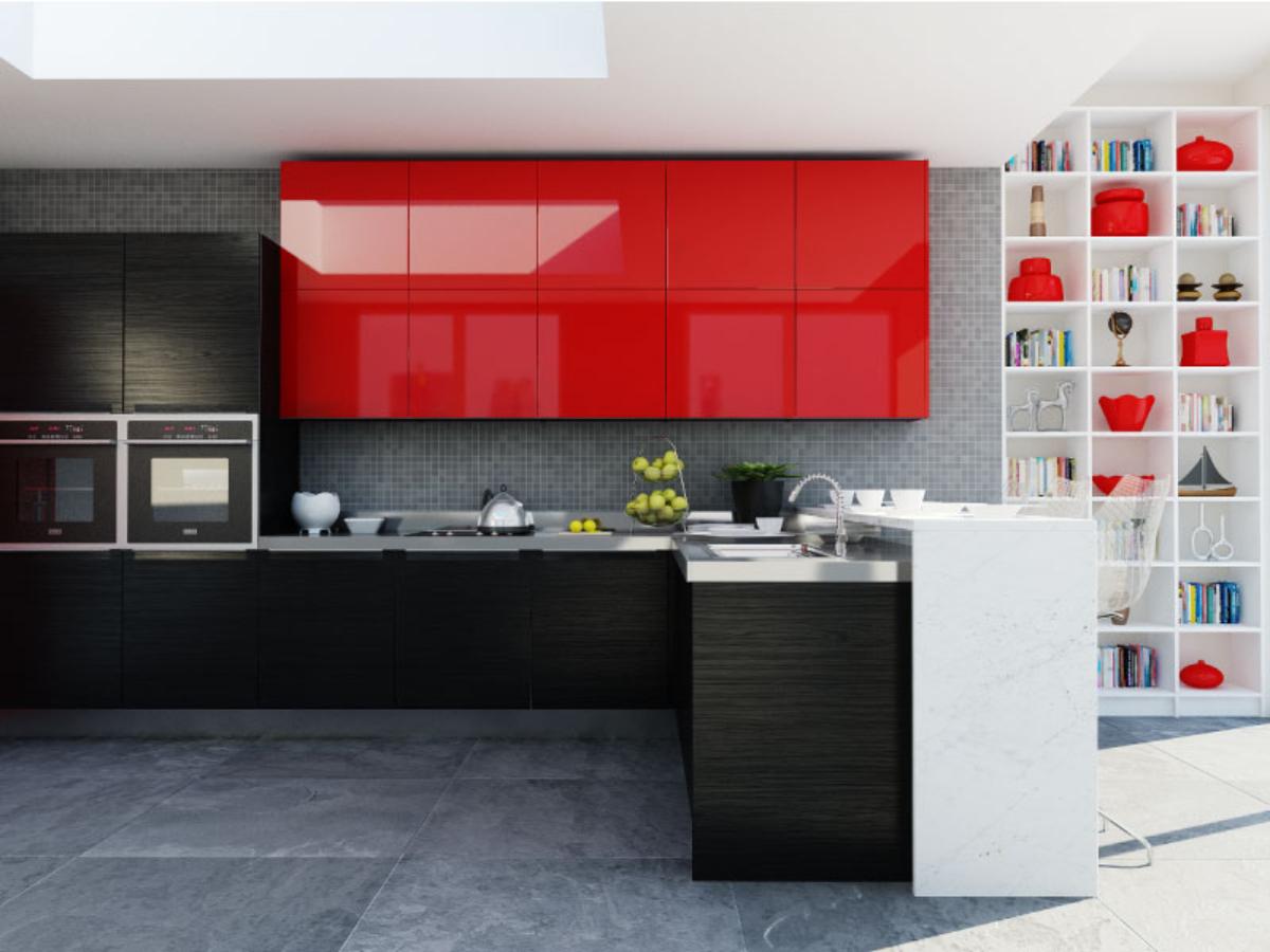 Kyledesign cocina rojo ferrari - Cocinas de color blanco ...
